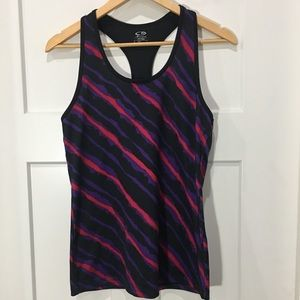 Champion Racerback tank top striped large